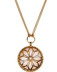 Mimata - Rome - Yellow Gold Necklace With Smoky Quartz - Lyst