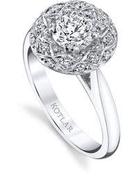 Harry Kotlar - Round Brilliant Bloom Artisan Pave Ring - Lyst