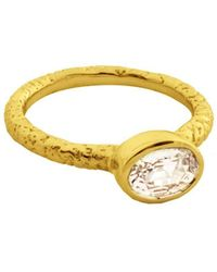 Susan Wheeler Design - White Sapphire Ring - Lyst