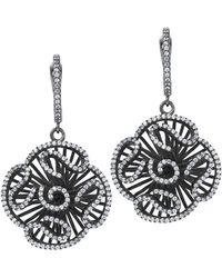 Fei Liu - Cascade Stud Drop Earrings In Black Rhodium - Lyst