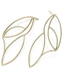Janice Zethraeus - Gold Plated Frond Stud Earrings - Lyst