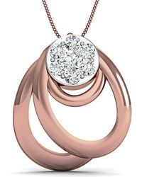 Diamoire Jewels - Diamoire 18kt Rose Gold Diamond Pendant Inspired By Nature - Lyst