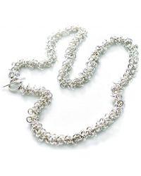 Latelita London Cascading Tassel Statement Necklace Silver Green Onyx kilgYFPUwy