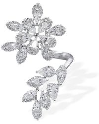 W. Salamoon & Sons - 18kt White Gold & Diamond Floral Twist Ring - Lyst