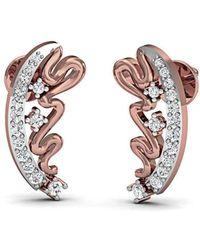 Diamoire Jewels Flower-patterned 18kt Rose Gold Diamond Stud Earrings JmWQH0xe