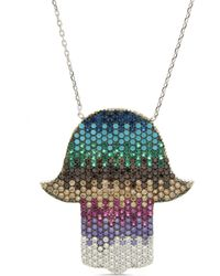 Cosanuova - Multicolor Hamsa Necklace - Lyst
