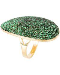 LÁTELITA London - St Tropez Ring Gold Green Zircon - Lyst