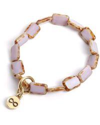 Eva Michele Lavender Infinity Bracelet