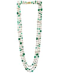 M's Gems by Mamta Valrani - Majestic Pearl Necklace With Onyx - Lyst