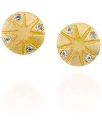Michal Bendzel Friedman Jewelry Design - Gal 18kt Sapphire Stud Earrings - Lyst