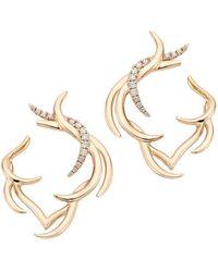 Sarah Ho - Paradis Plume Hoop Earrings - Lyst