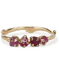 Olivia Ewing Jewelry - Roughcut Ruby Garland Ring - Lyst