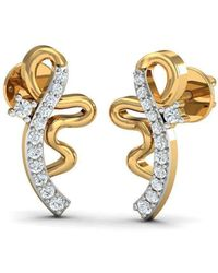 Diamoire Jewels 14kt Rose Gold Romance Inspired Designer Diamond Earrings hilul6s