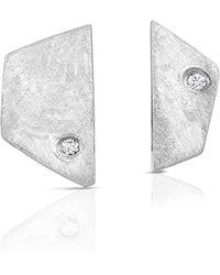 ENJI Studio Jewelry - Paloma Earrings In White Gold - Lyst