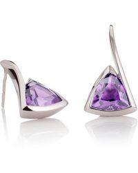 MANJA Jewellery - Amore Amethyst Earrings - Lyst