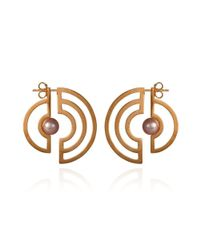 Cara Tonkin - Orbit Solaris Earrings Rose Gold - Lyst