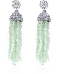 Cosanuova - Aqua Tassel Earrings - Lyst