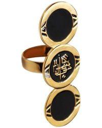 Qiyada Jewelry - Triple Logo Finger Ring - Lyst