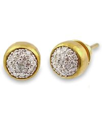 Gurhan | Small Amulet Pave Stud Earrings | Lyst