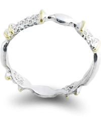 Agneta Bugyte - Sterling Silver & 14kt Gold Alternative Classical Ring With Accents - Lyst