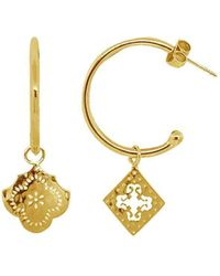 Murkani Jewellery - Gold Medium Mismatched Hoop Earrings | - Lyst