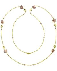 Marmalade Fine Jewellery - 18kt Yellow Gold Spectacle Set Multi-colour Sapphire Necklace - Lyst