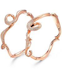 Fei Liu - 18kt Rose Gold Plated Serenity Small Hoop Earrings - Lyst
