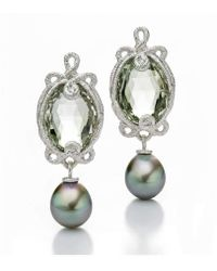 Brigitte Adolph Jewellery Design - Undine White Gold Earrings With Tahitian Pearls - Lyst