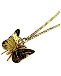 Will Bishop - Gold Butterfly Necklace - Lyst
