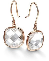 Bcouture Single White Topaz Drop Earrings Lyst