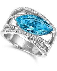 Tivon Fine Jewellery - Tivon Cape Town Blue Ring - Lyst