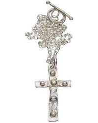 Kate Chell Jewellery - Melted Cross Diamond Necklace - Lyst