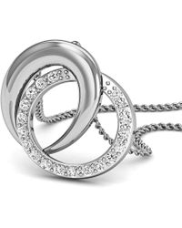 Diamoire Jewels - 18kt White Gold Pave Pendant Handmade With Premium Quality Diamonds - Lyst