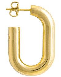 Glenda López - 18kt Gold Dipped Xl Golden Link Earring - Lyst