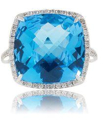 Estenza - Stella London Blue Cocktail Ring - Lyst