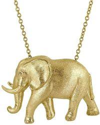 Alexander Jewell - Elephant Pendant - Lyst