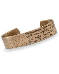 House of Alaia | Four Agreements Reminder Cuff In Bronze Small | Lyst