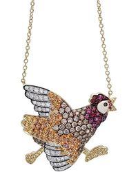 Pinomanna - Natural Chic Running Chicken Necklace - Lyst
