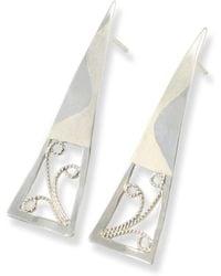 Monica Fiorella Jewelry - Wavy Modern Filigree Earrings - Lyst