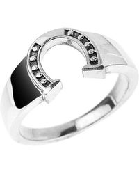 QP Jewellers - Horseshoe Ring In Sterling Silver - Lyst