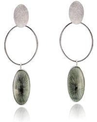 Eline Fransen Jewellery Design - Green Stars Earrings - Lyst