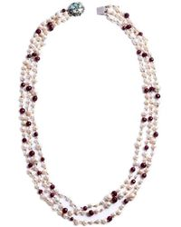 M's Gems by Mamta Valrani - Majestic Pearl Necklace With Rubies - Lyst