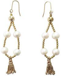 Farra - Natural Freshwater Pearl Earrings - Lyst