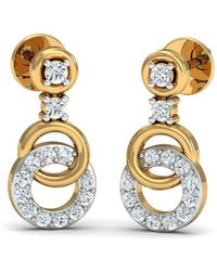 Diamoire Jewels Make A hit With 18kt Yellow Gold Diamond Pave Earrings GuSlaa7i