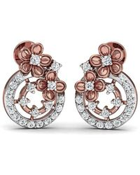 Diamoire Jewels - Unique Cut 18kt Rose Gold Flower Earrings - Lyst