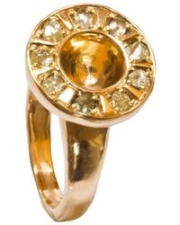 Anna Moltke-Huitfeldt - Gold Signet Of Life Ring - Lyst