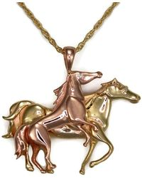 Donna Pizarro Designs - 14kt Diamond Horse Pendant - Lyst