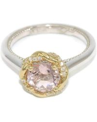 Custom Made By Irina - Braided Halo Meaningful Engagement Ring - Lyst