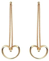 September Rose - 18kt Yellow Gold Bella Earrings - Lyst