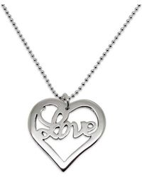 Hilary&June - Sterling Silver Heart Of Love Necklace - Lyst